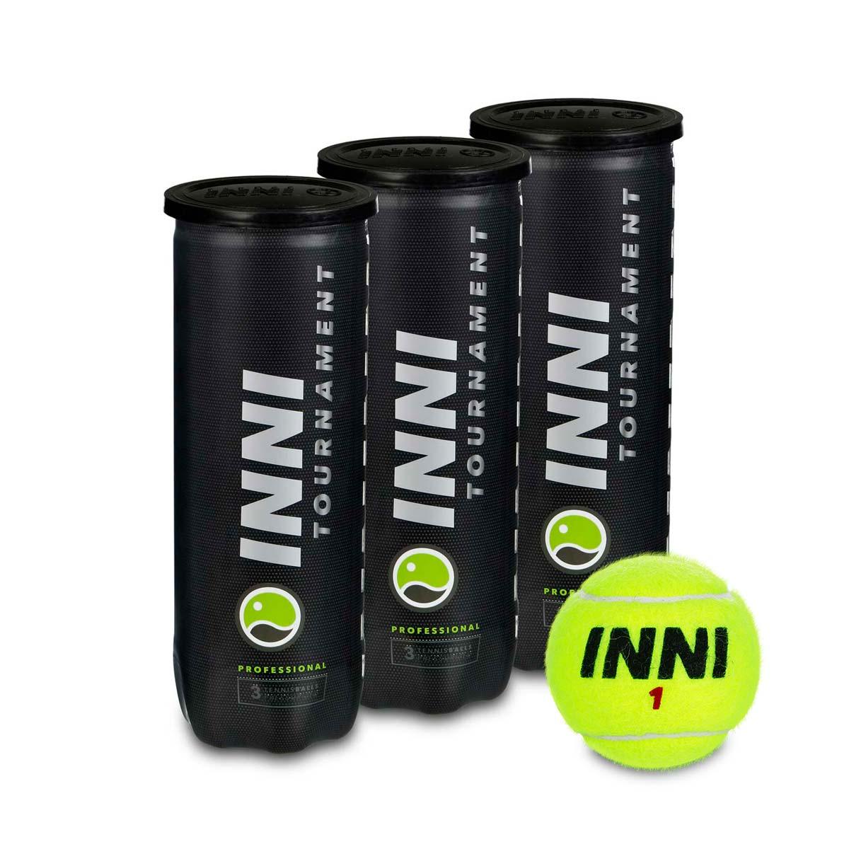 Bola de Tênis Inni Tournament - Pack Com 03 Tubos