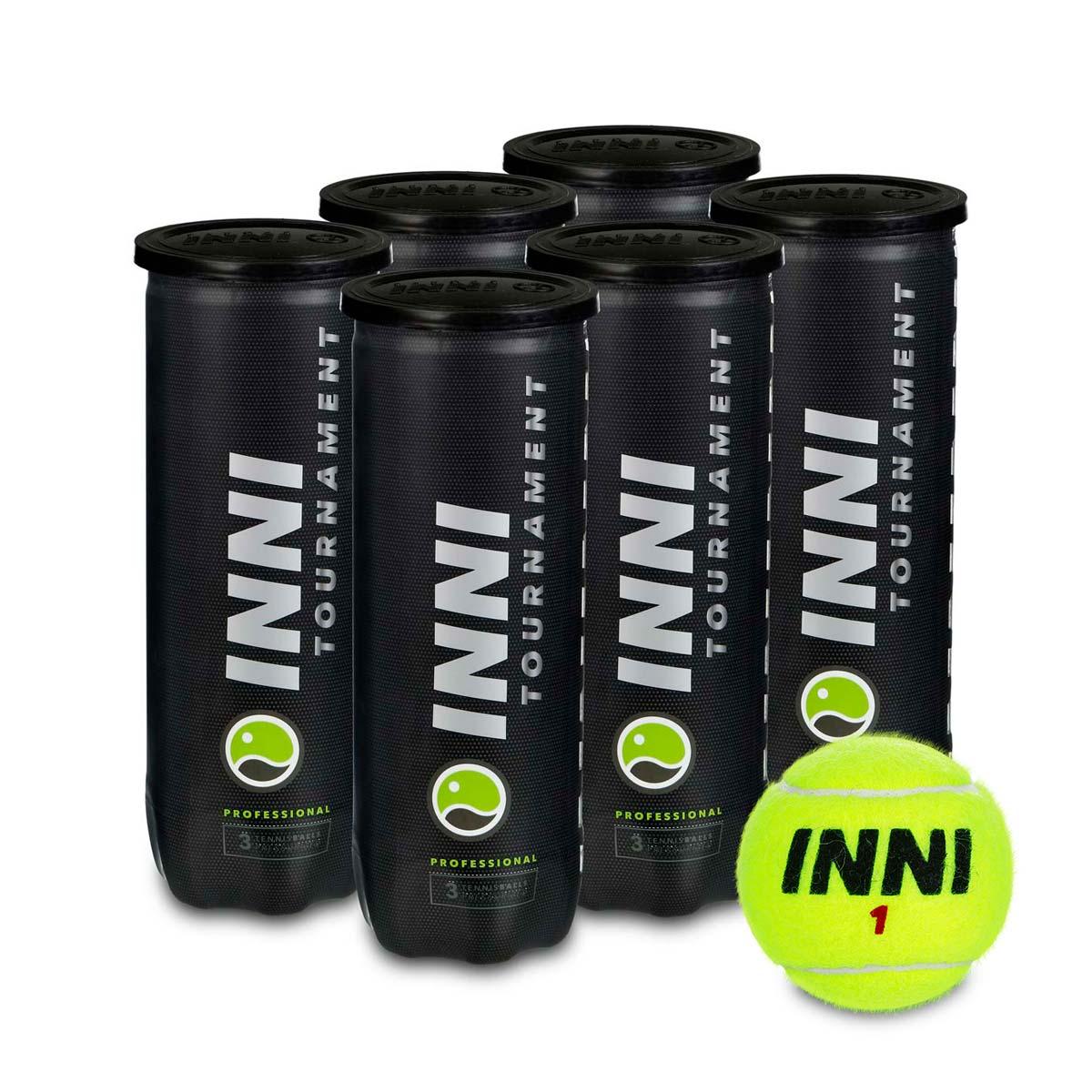 Bola de Tênis Inni Tournament - Pack Com 06 Tubos