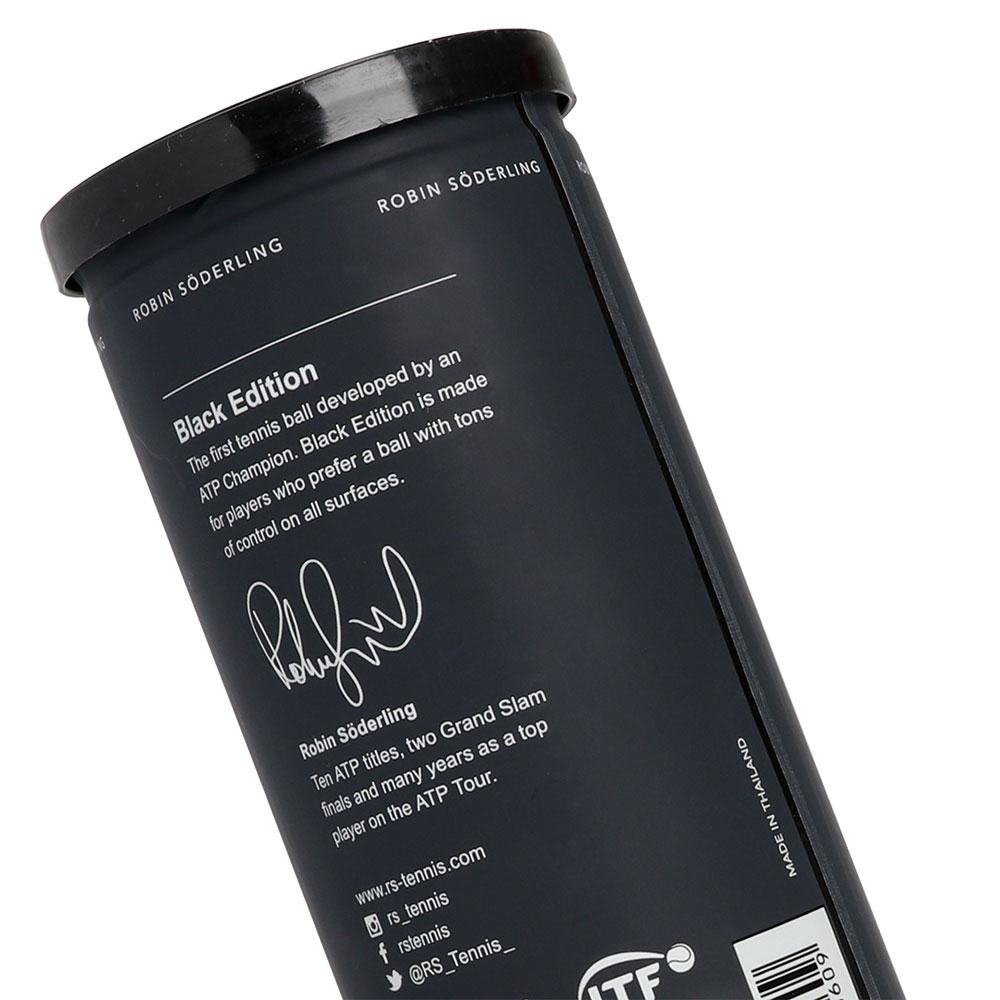 Bola de Tênis Robin Soderling Black Edition Tubo Com 03 Bolas