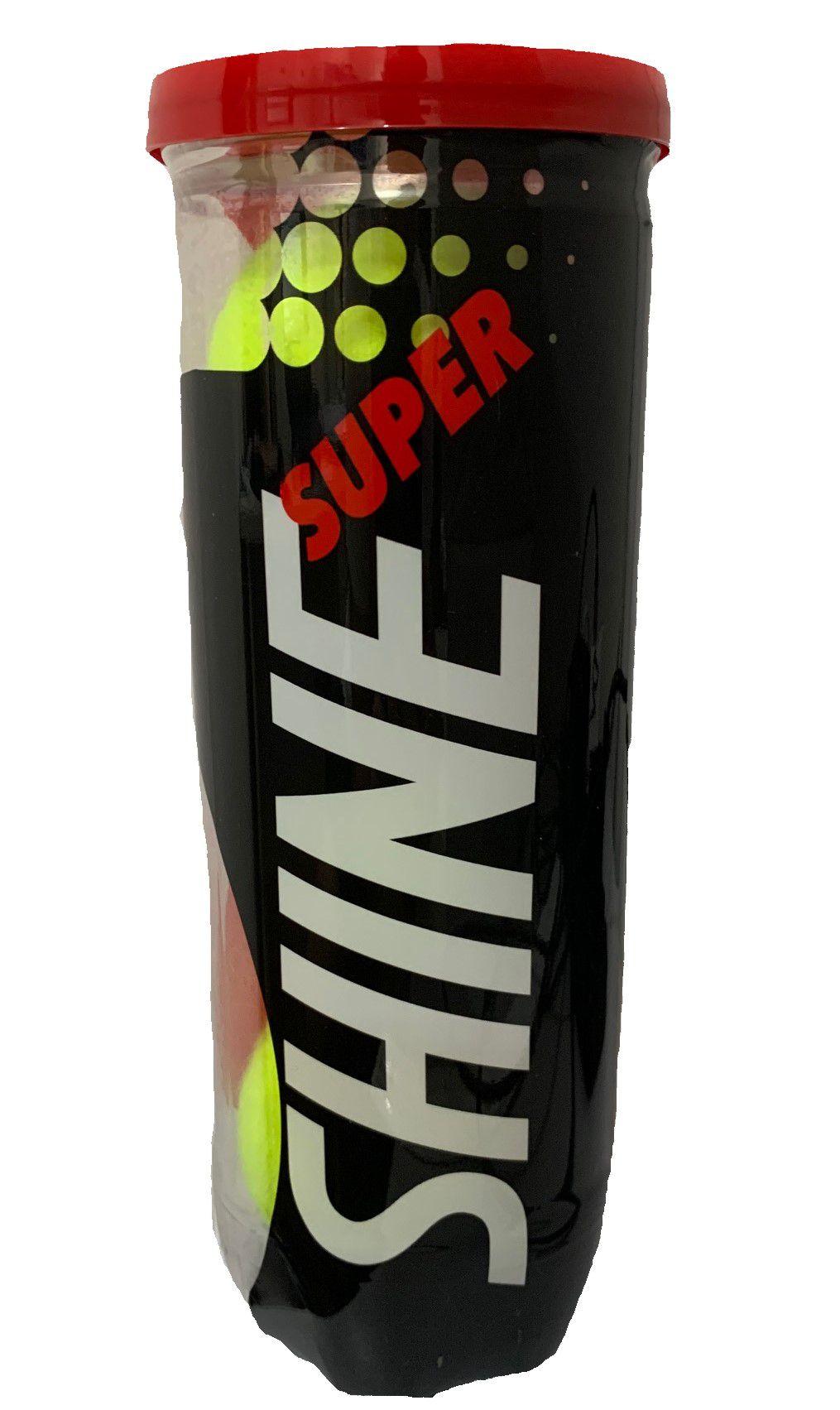 Bola de Tênis Super Shine Tubo Com 03 Unidades
