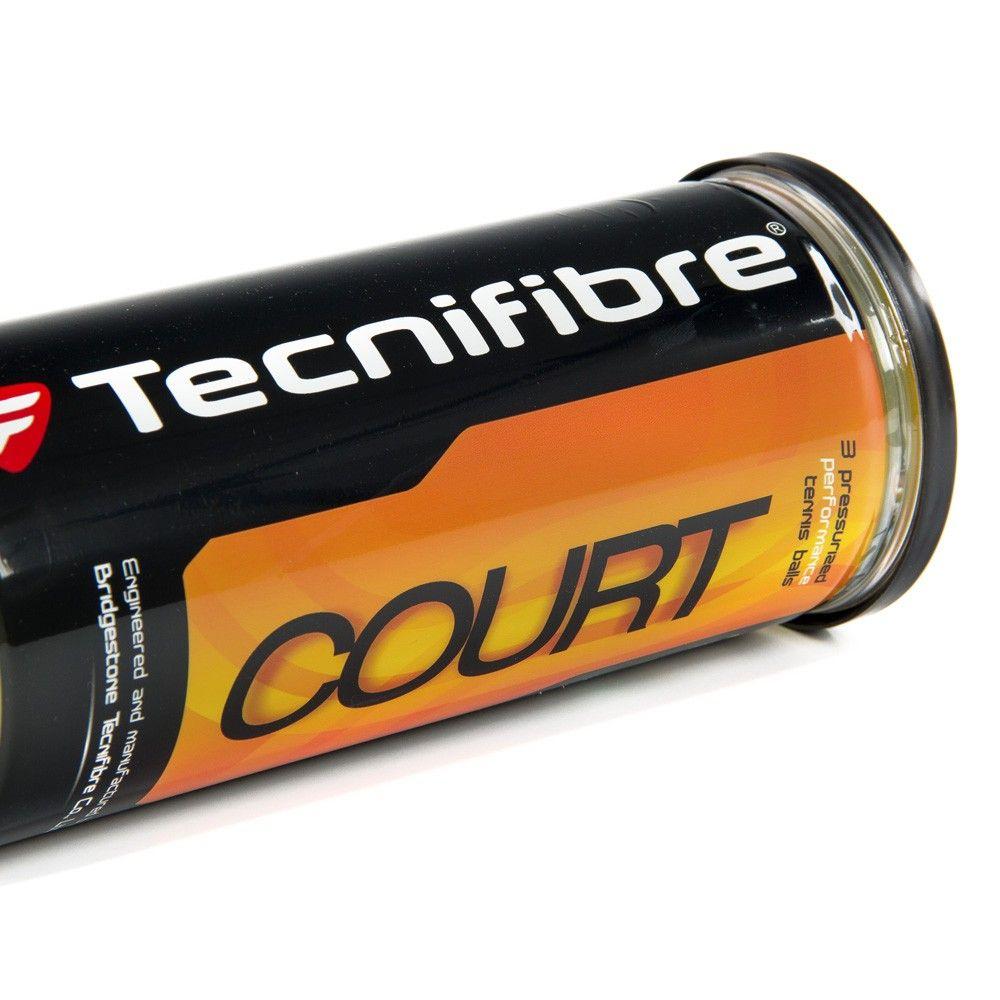 Bola de Tênis Tecnifibre Court Caixa 18 Tubos Com 04 Bolas