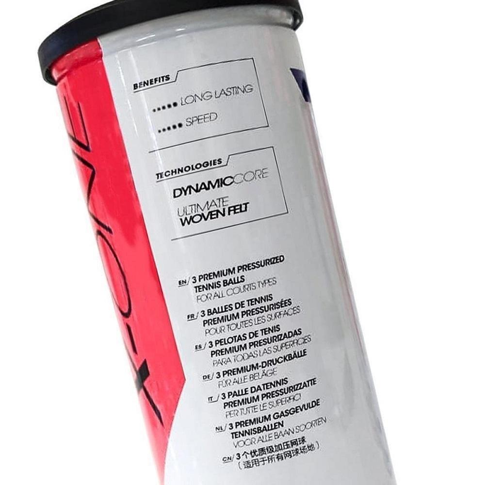 Bola de Tênis Tecnifibre X-One Pack Com 03 Tubos