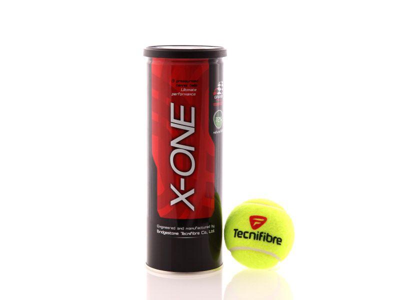 Bola de Tênis Tecnifibre X-One Tubo Com 03 Bolas