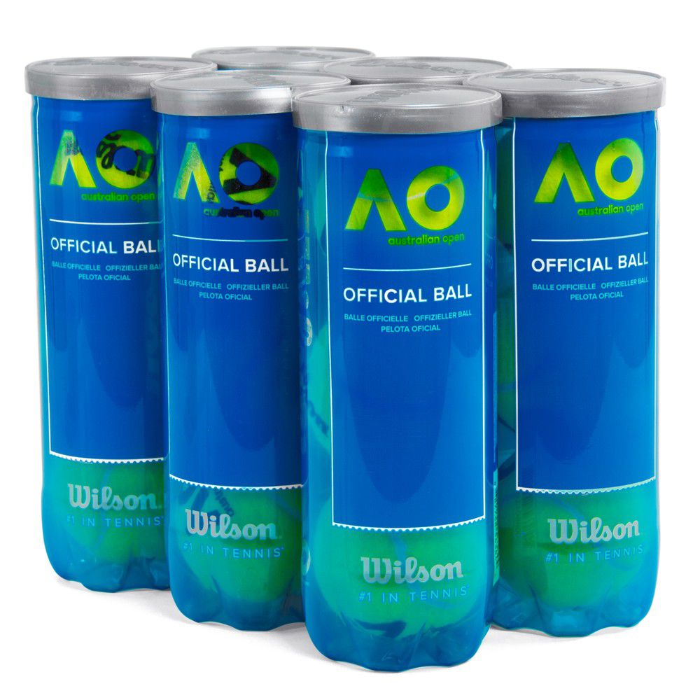 06458bfde Bola de Tênis Wilson Australian Open Pack Com 06 Tubos - Spinway Tennis e  Beach Tennis