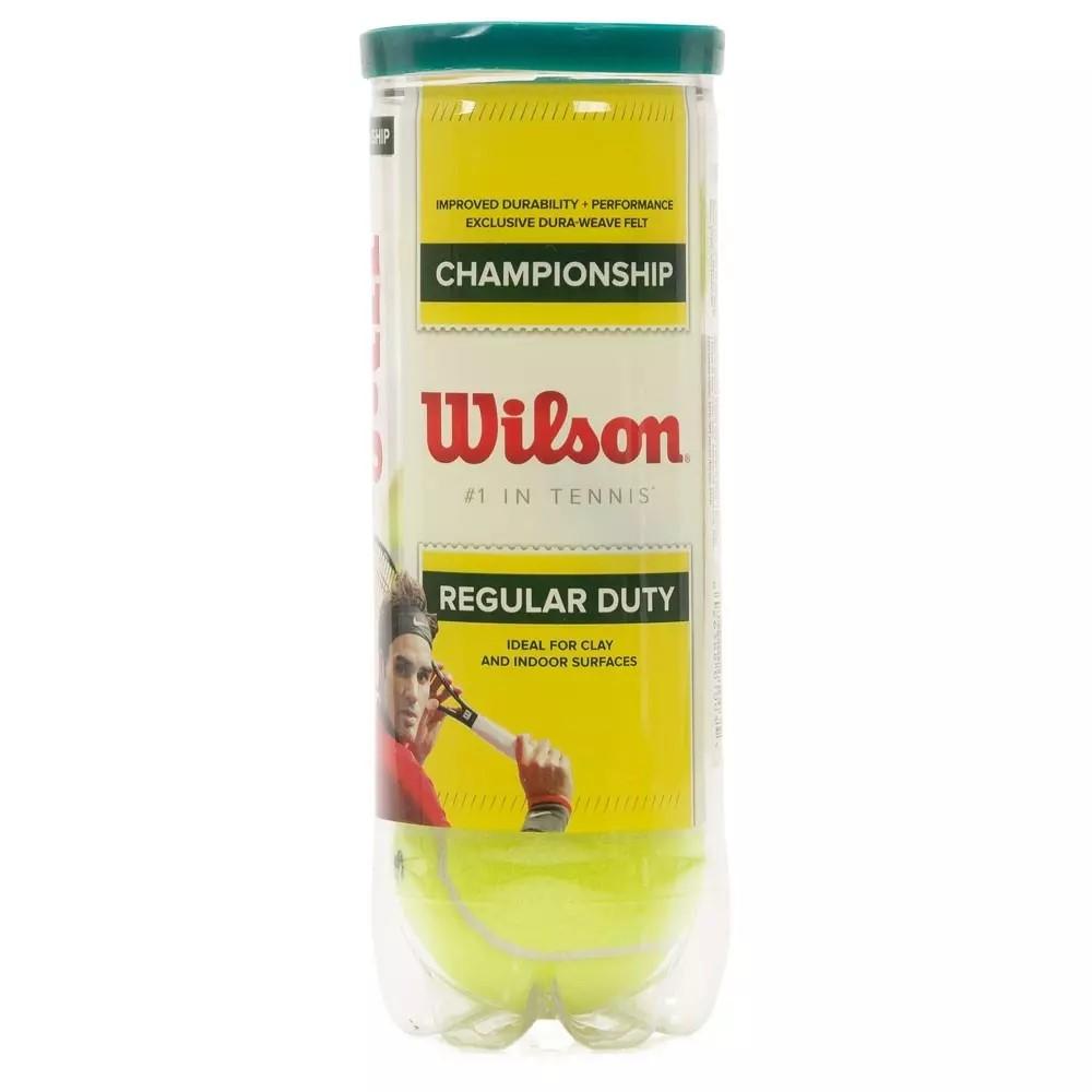 Bola de Tênis Wilson Championship Regular Duty Com 03 Bolas