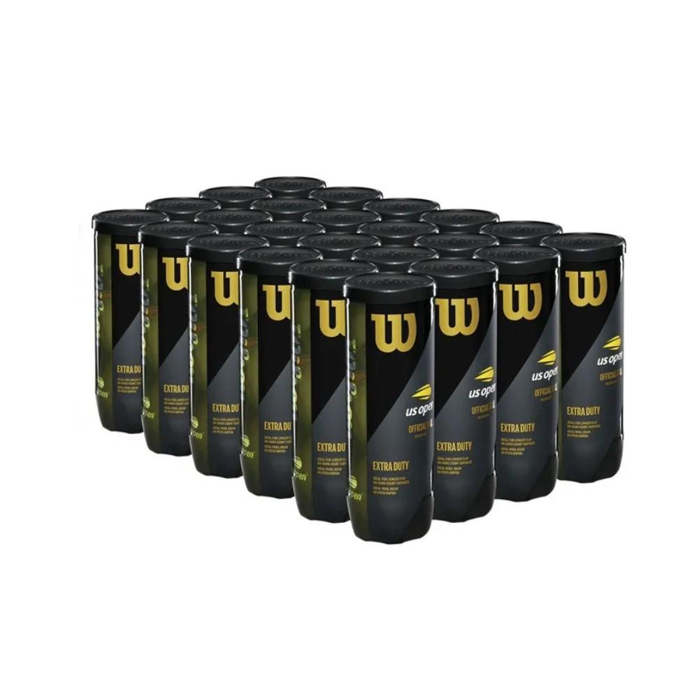 Bola de Tênis Wilson US Open Caixa Com 24 Unidades