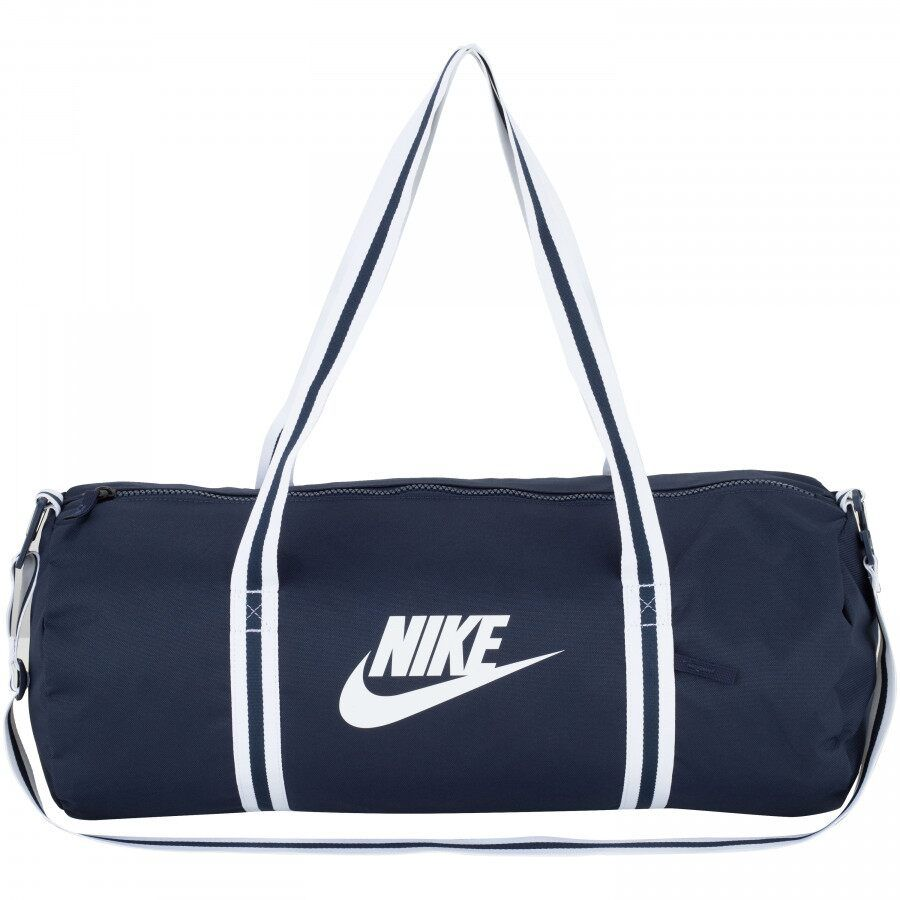 Bolsa Nike Heritage Duff Marinho e Branca