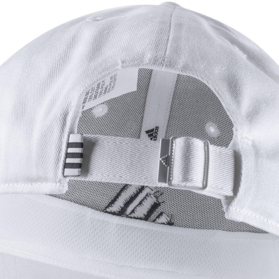 Boné Adidas Baseball Proteção UV Branco e Preto