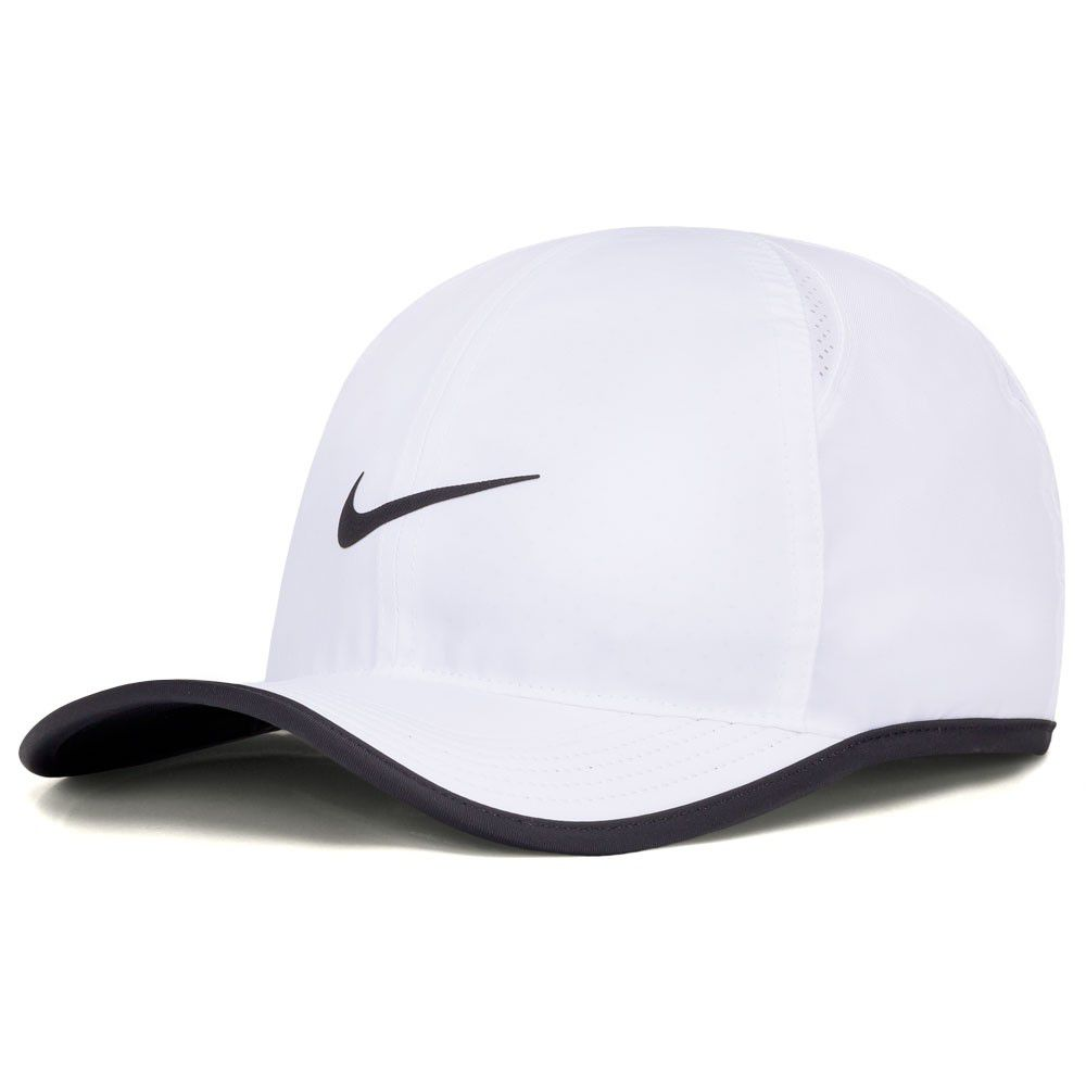 Boné Nike Featherlight Branco e Preto