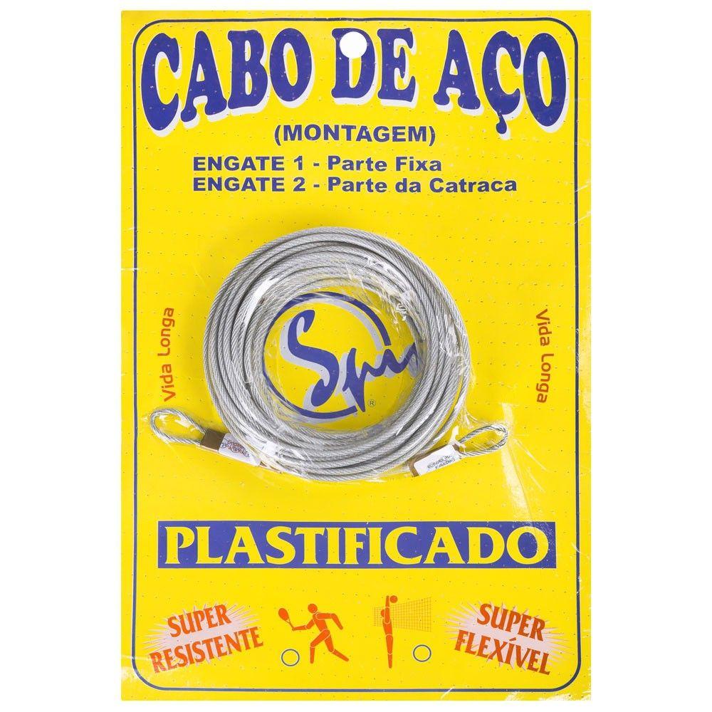 Cabo de Aço Spin Galvanizado e Plastificado Para Rede de Tênis