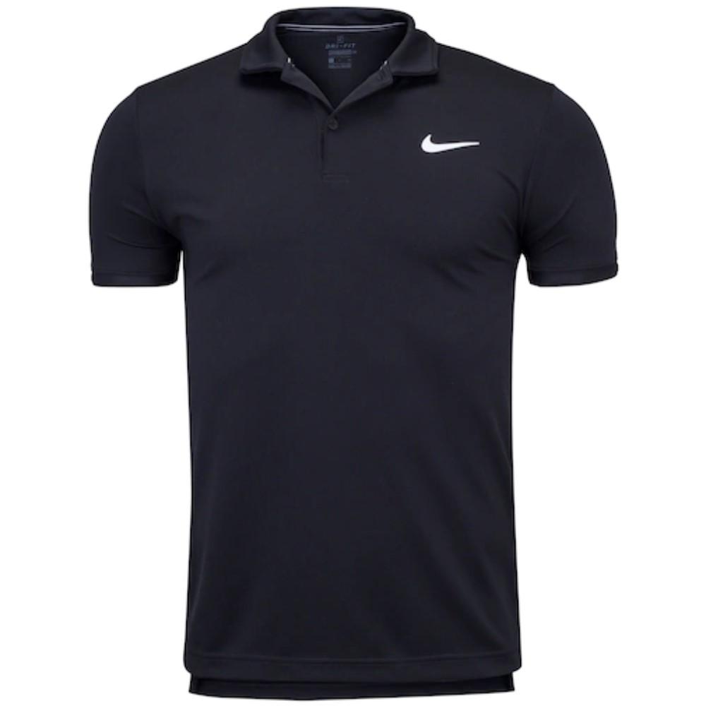 Camisa Polo Nike Court Dri Fit Victory Preto e Branco