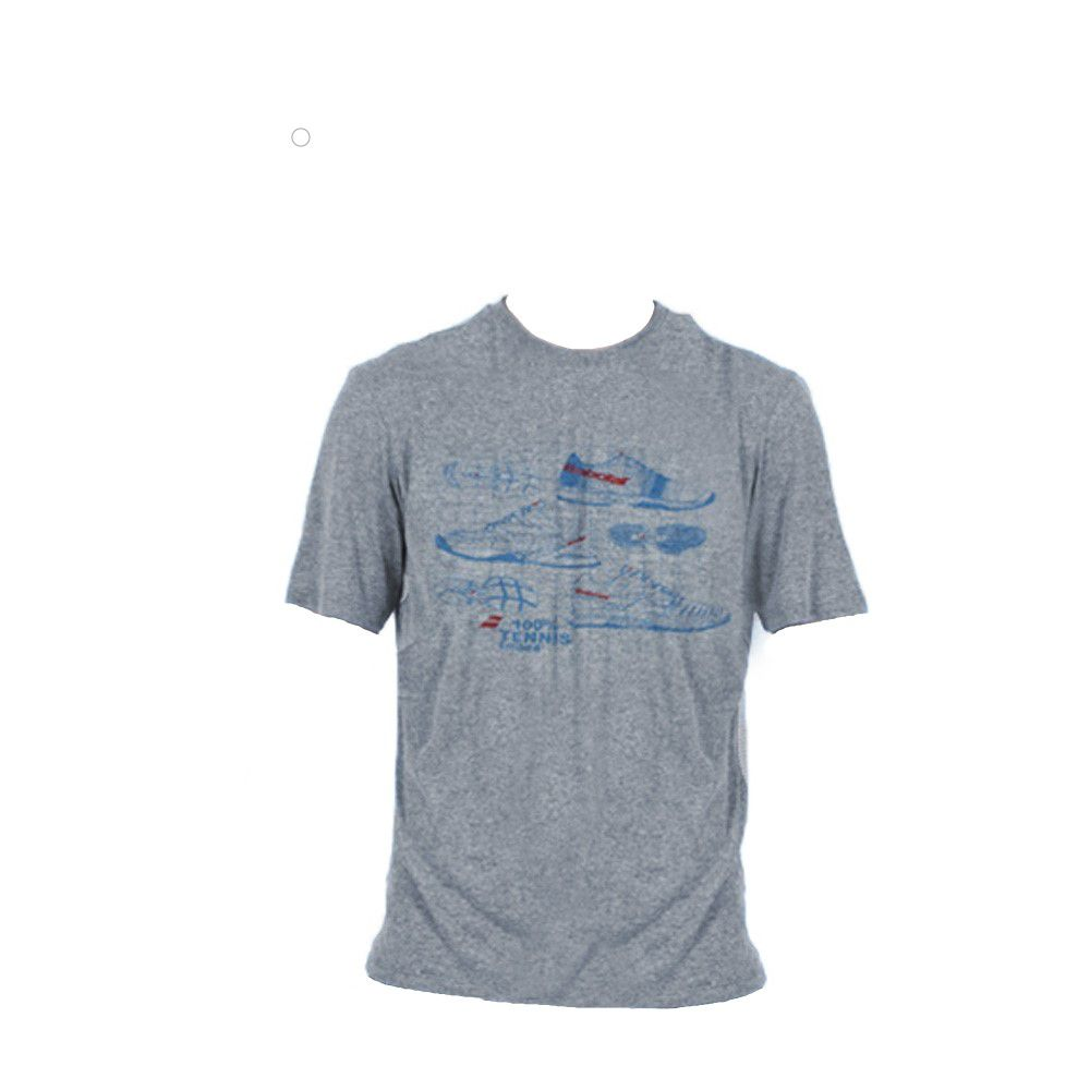 Camiseta Babolat Performance Calçado Jet Cinza