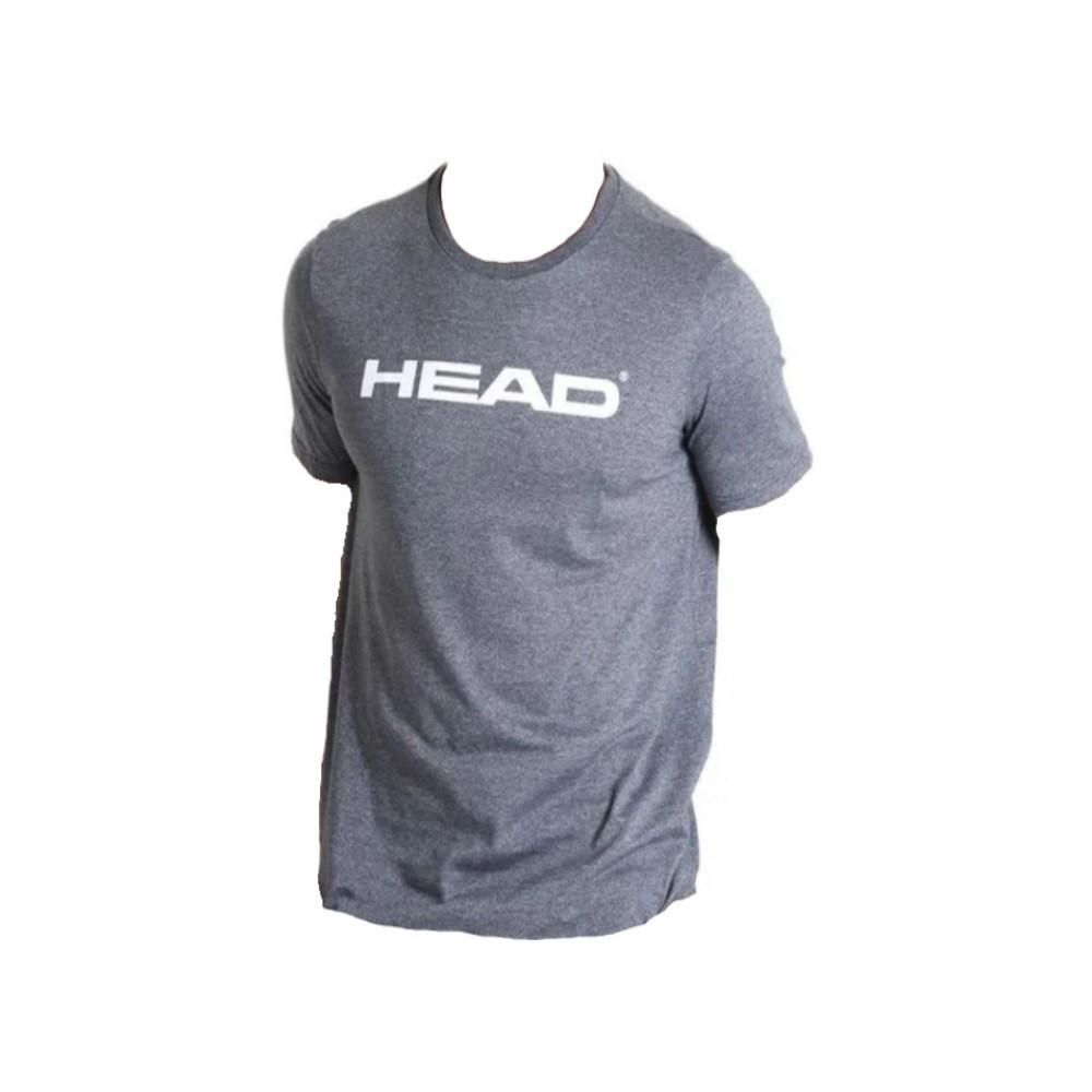 Camiseta Head Básica Cinza Mescla - Masculino