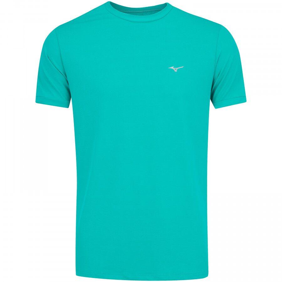 Camiseta Mizuno Básica Turquesa