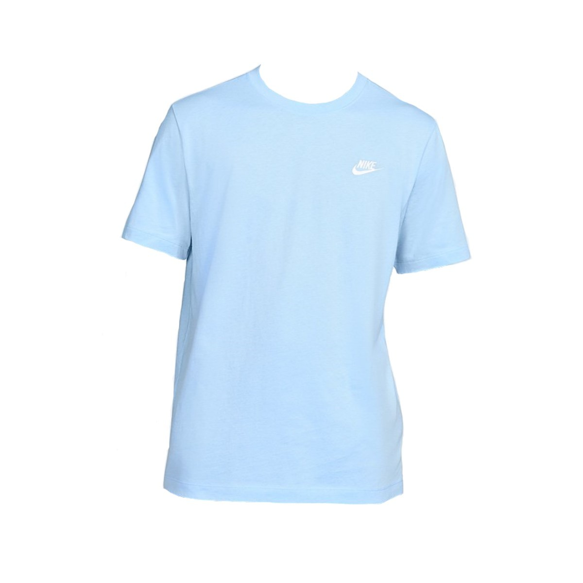 Camiseta Nike Club Tee Azul Claro e Branco - Masculino