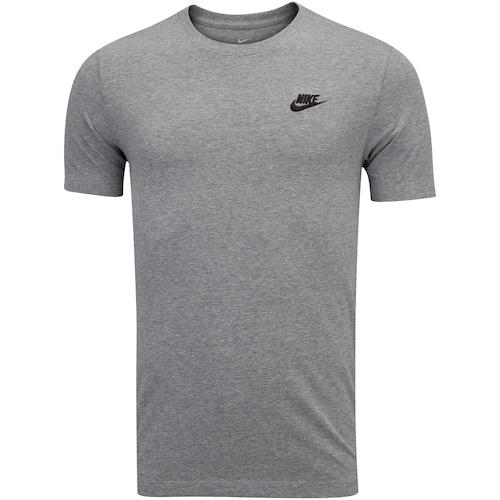 Camiseta Nike Club Tee Cinza e Preto - Masculino