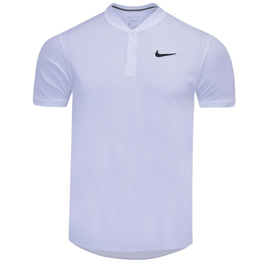 Camiseta Nike Court Dri-Fit Branca e Preta