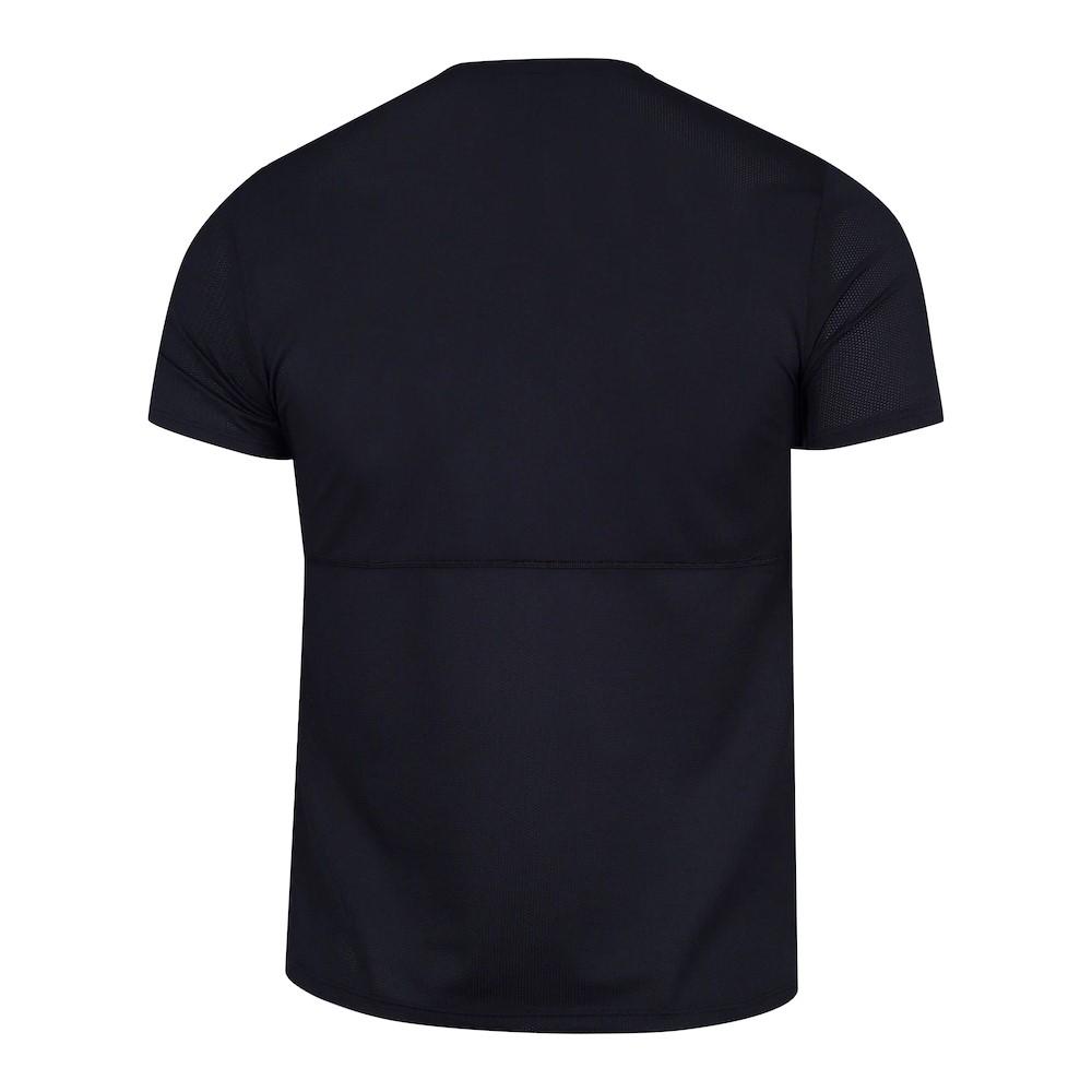 Camiseta Nike Dri Fit Breathe Run WR GX Preto e Branco - Masculino