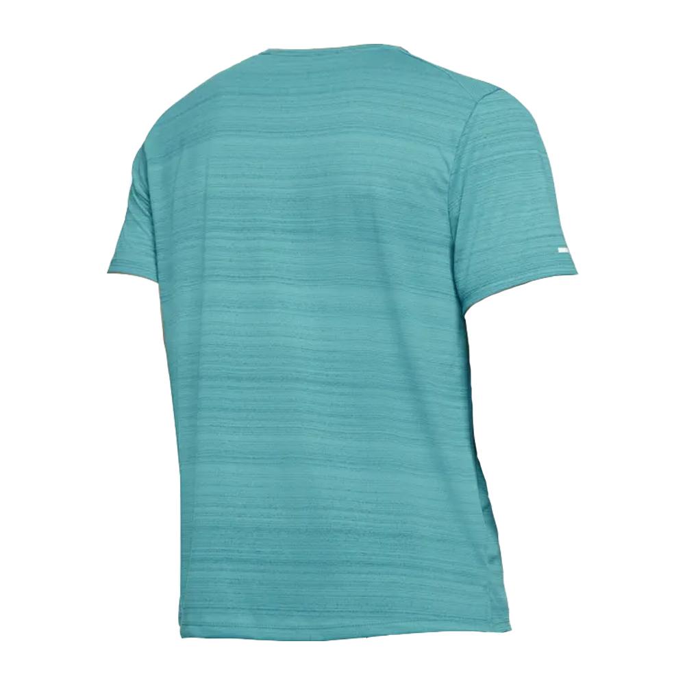 Camiseta Nike Dri Fit Miler Top SS Verde e Cinza - Masculino