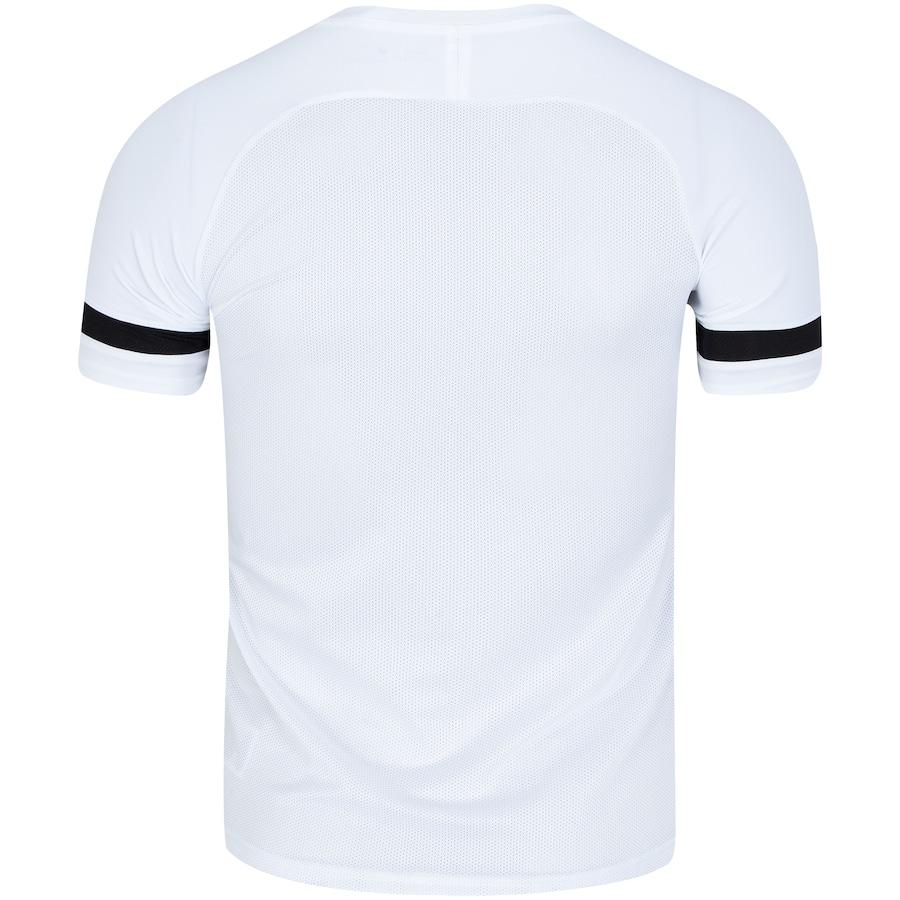 Camiseta Nike Dry Academy Top SS Branco e Preto - Masculino