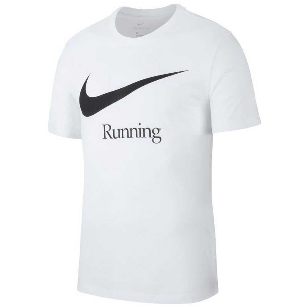 Camiseta Nike Dry Run HBR Branca e Preta