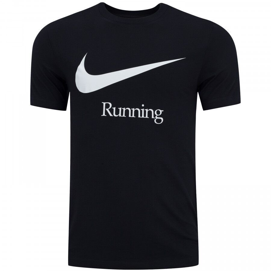 Camiseta Nike Dry Run HBR Preta e Branca