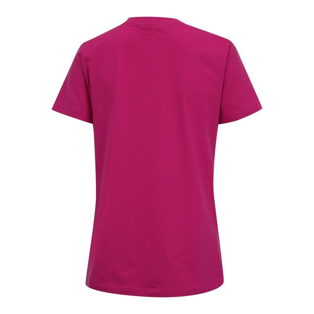 Camiseta Nike Essentials Icon Futura Rosa e Branco - Feminina
