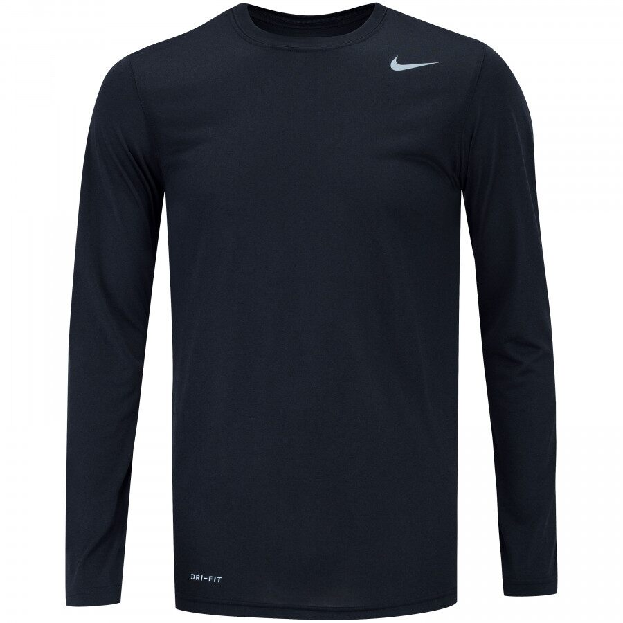 Camiseta Nike Manga Longa Dri Fit Legend Preto - Masculino