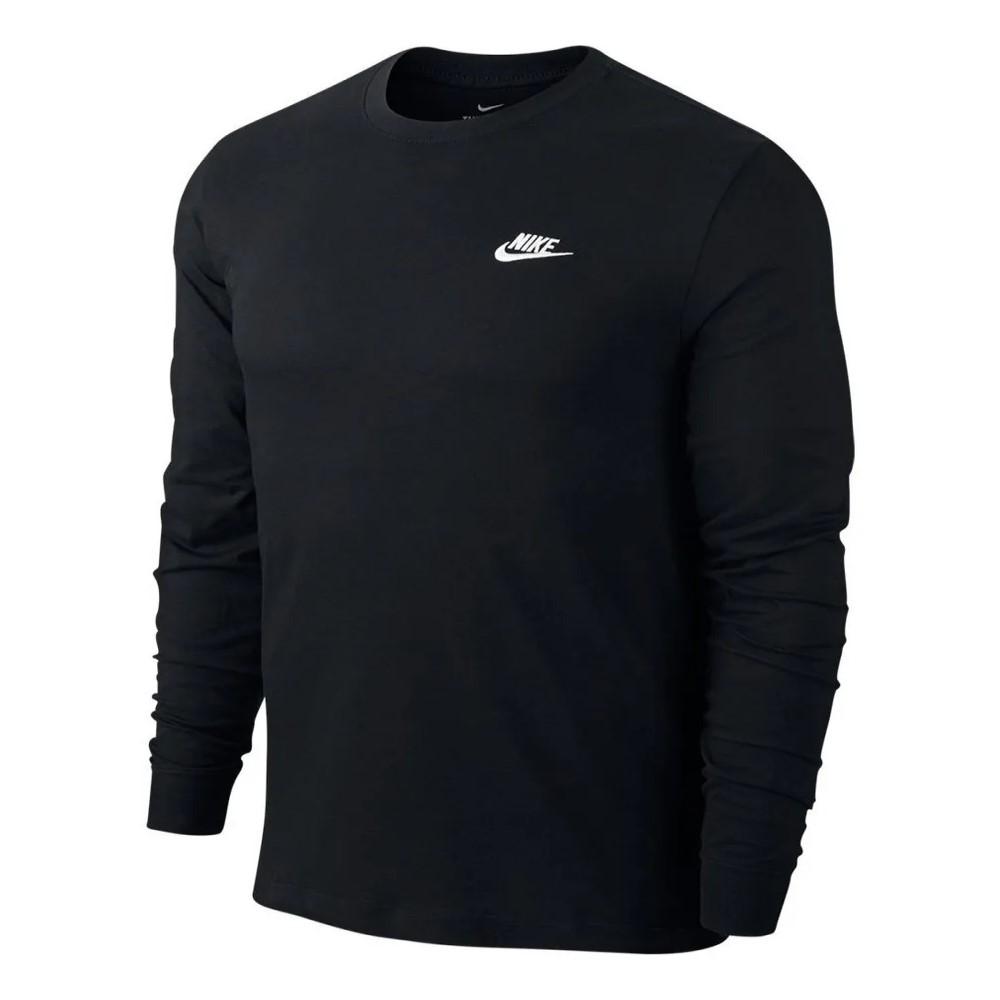 Camiseta Nike Manga Longa LS Embrd Preta - Masculino