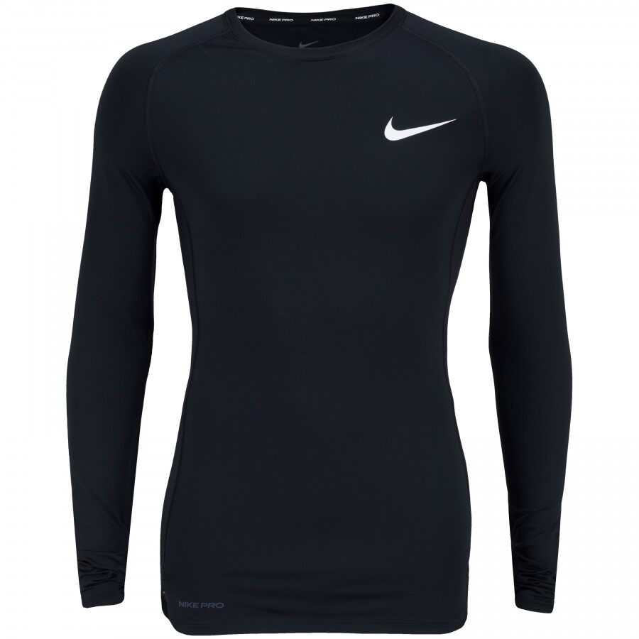 Camiseta Nike Manga Longa Pro Top LS Tight Preto