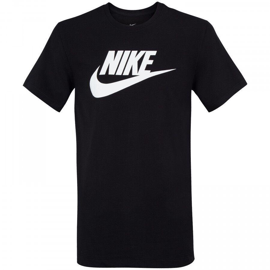 Camiseta Nike NSW Tee Icon Futura Preto e Branco