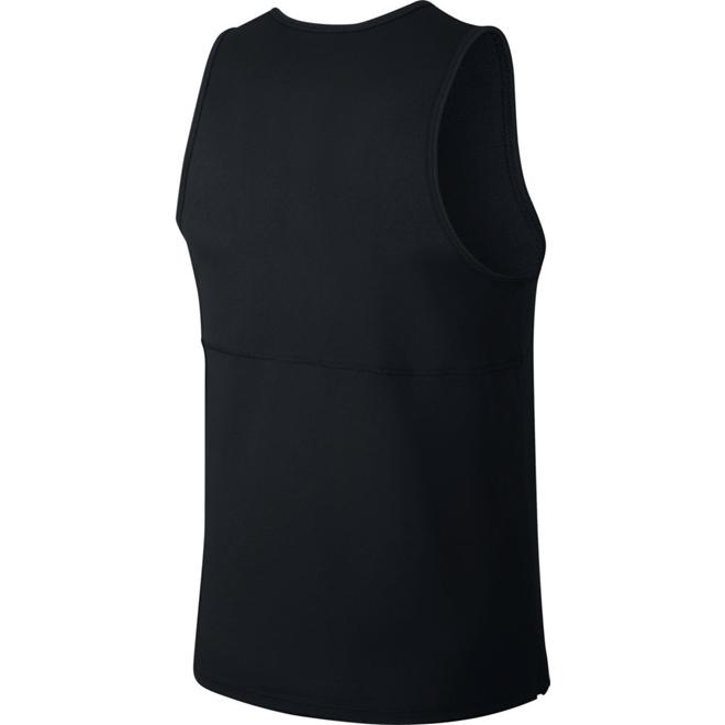 Camiseta Nike Regata Breathe Run Tank Preto e Prata