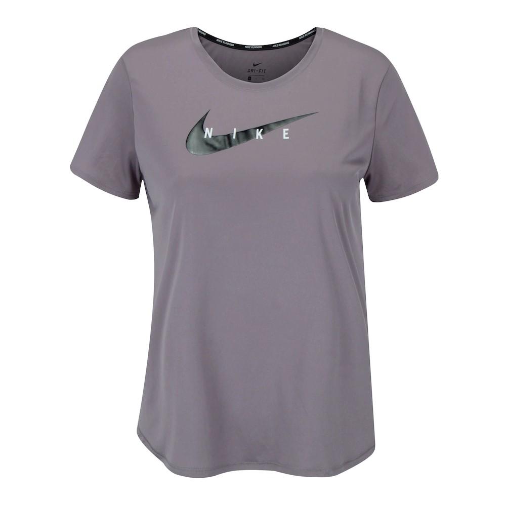 Camiseta Nike Swoosh Run Top SS Roxo - Feminino