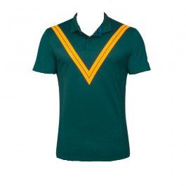 Camiseta Polo Nike Court Roger Federer Advantage Verde e Amarela - Spinway Tennis  e Beach Tennis ... c9895a4884515
