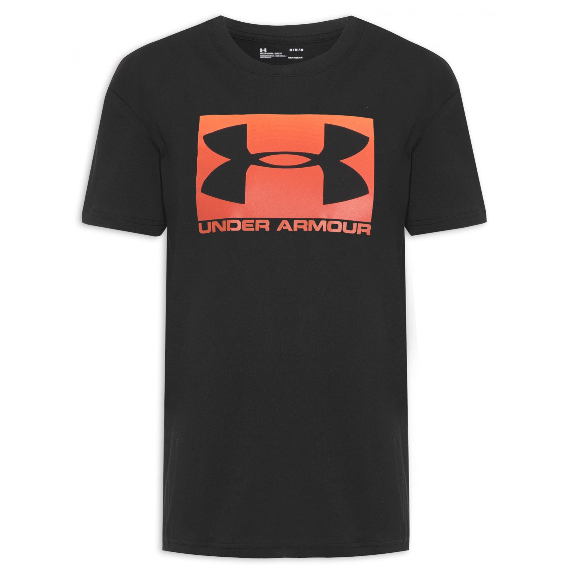 Camiseta Under Armour Boxed Sportstyle Latam Preto e Laranja