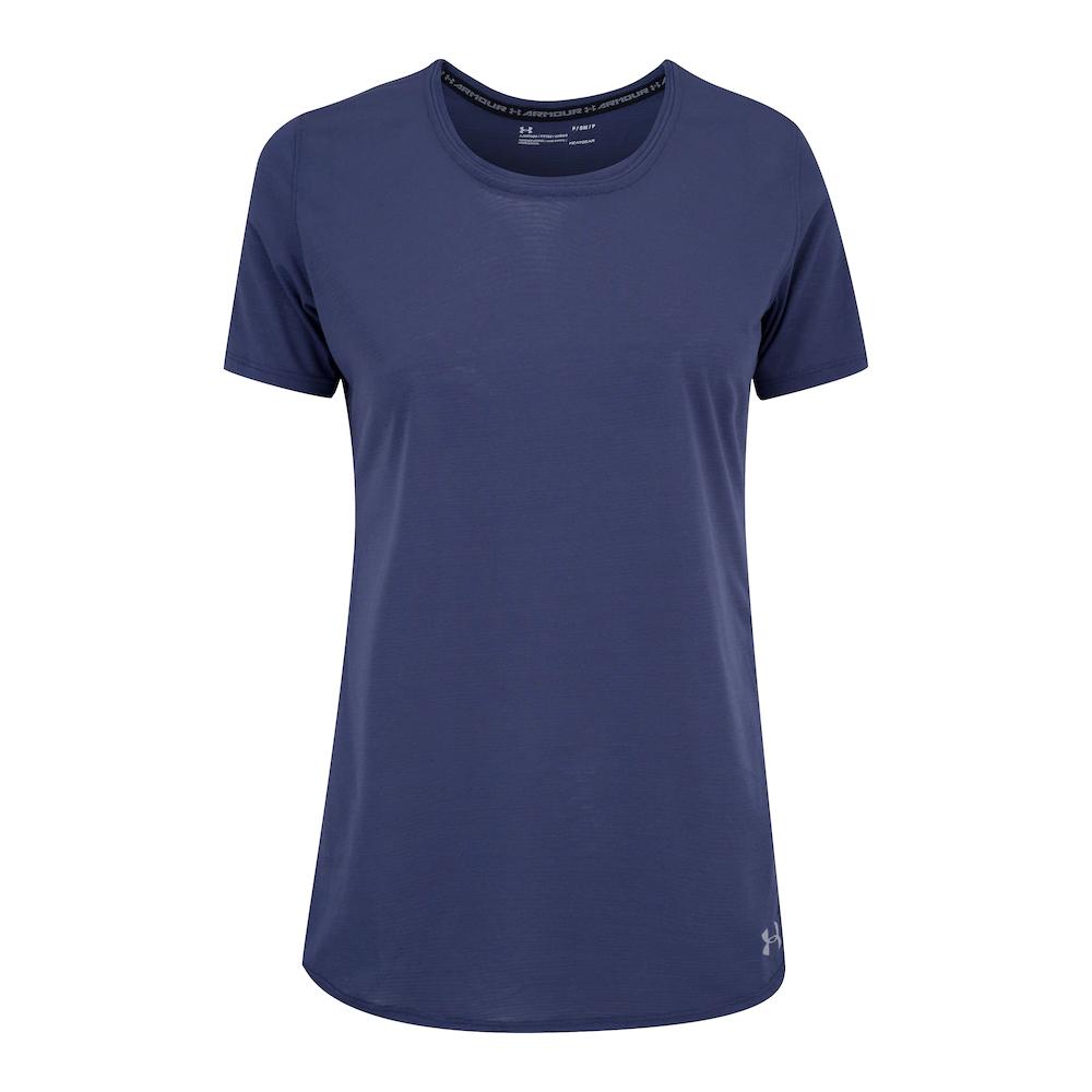 Camiseta Under Armour Streaker 1.0 Azul Escuro - Feminina