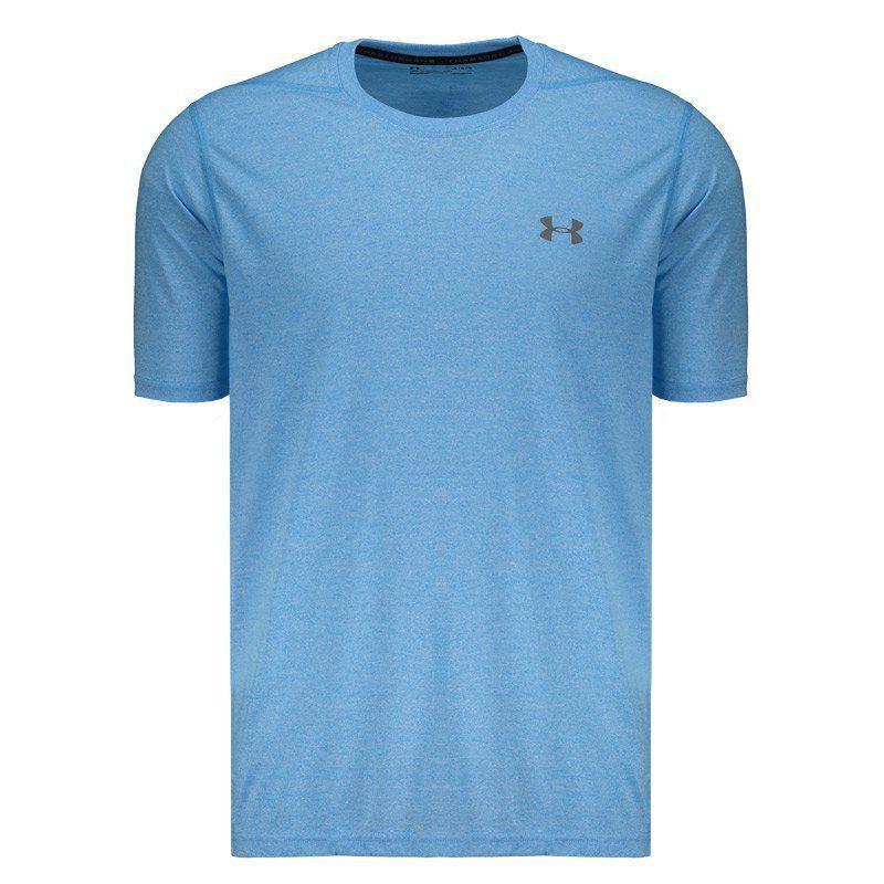 Ideal Descartar Economía  Camiseta Under Armour Threadborne Azul Celeste