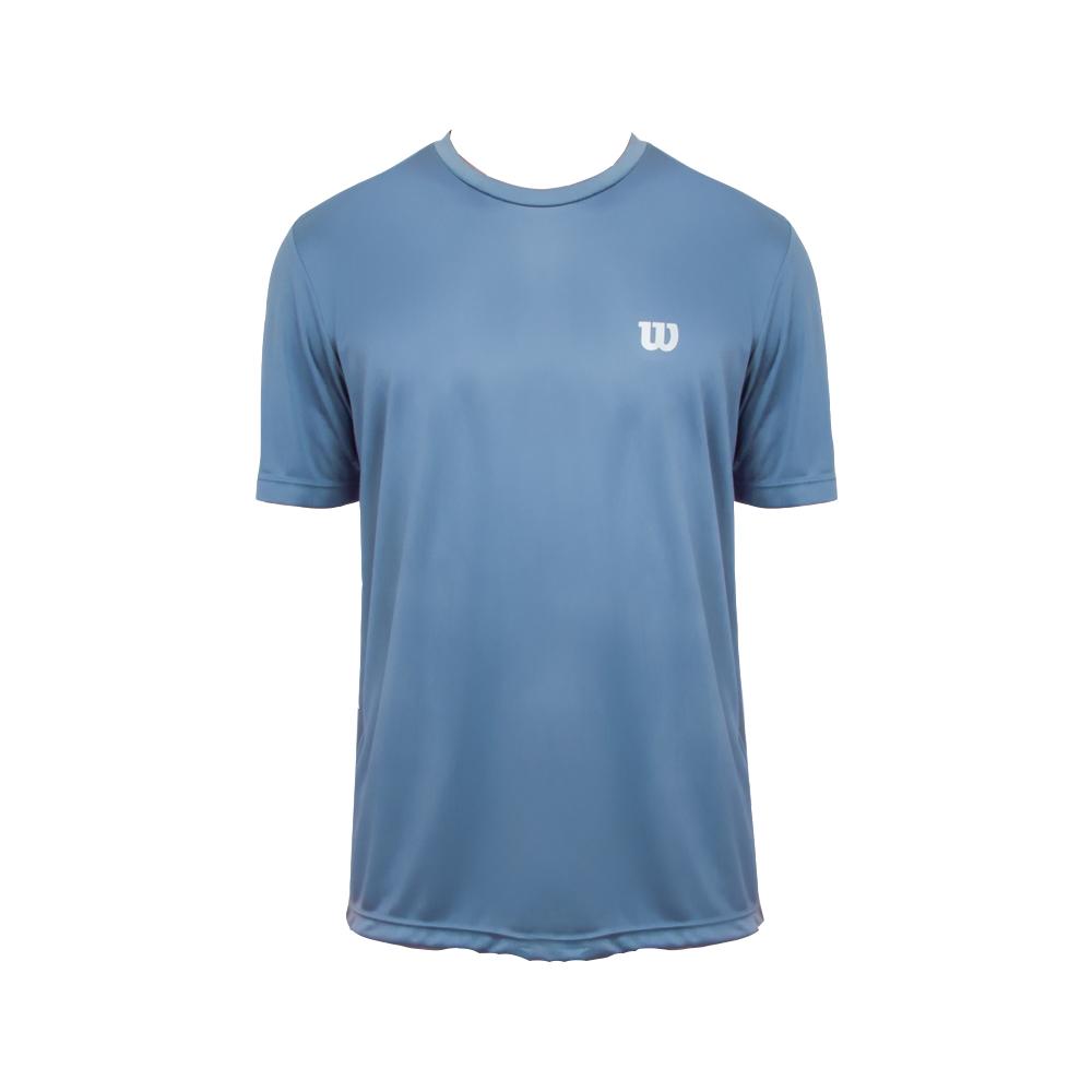 Camiseta Wilson Core Azul e Prata