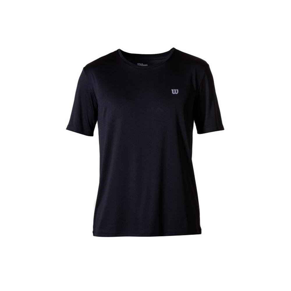 Camiseta Wilson Core Preto e Prata