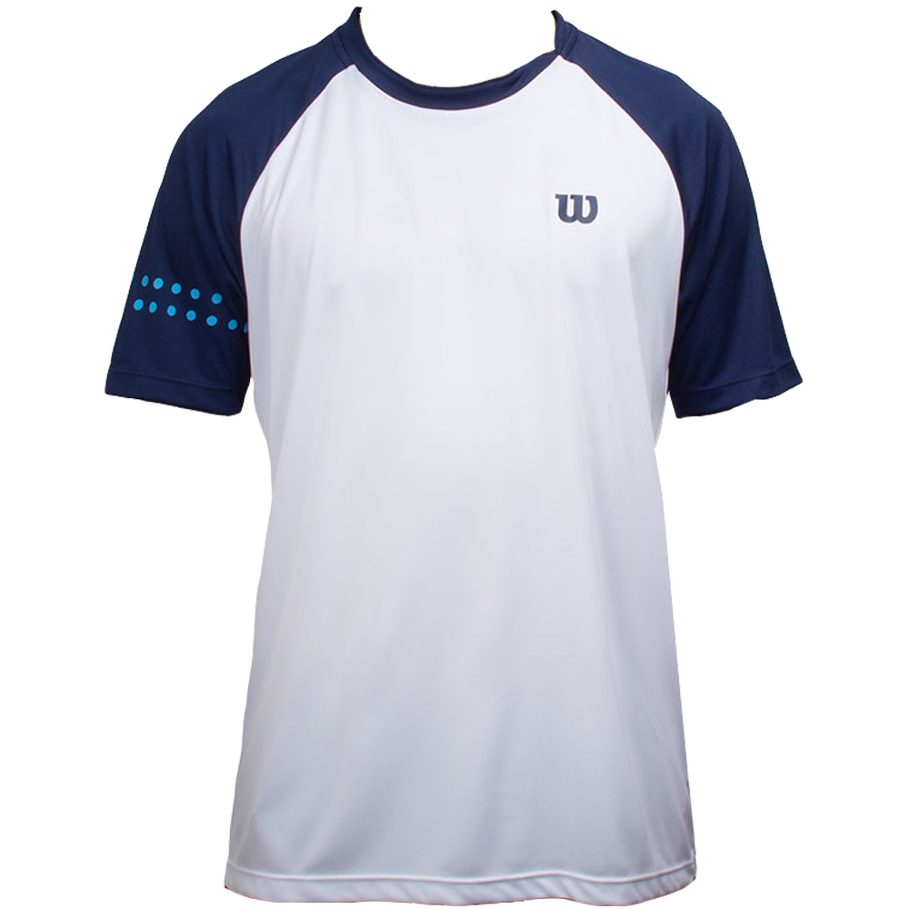 Camiseta Wilson Court Branco e Azul