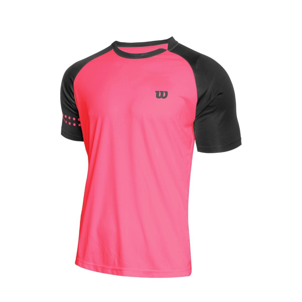 Camiseta Wilson Court Neon Coral