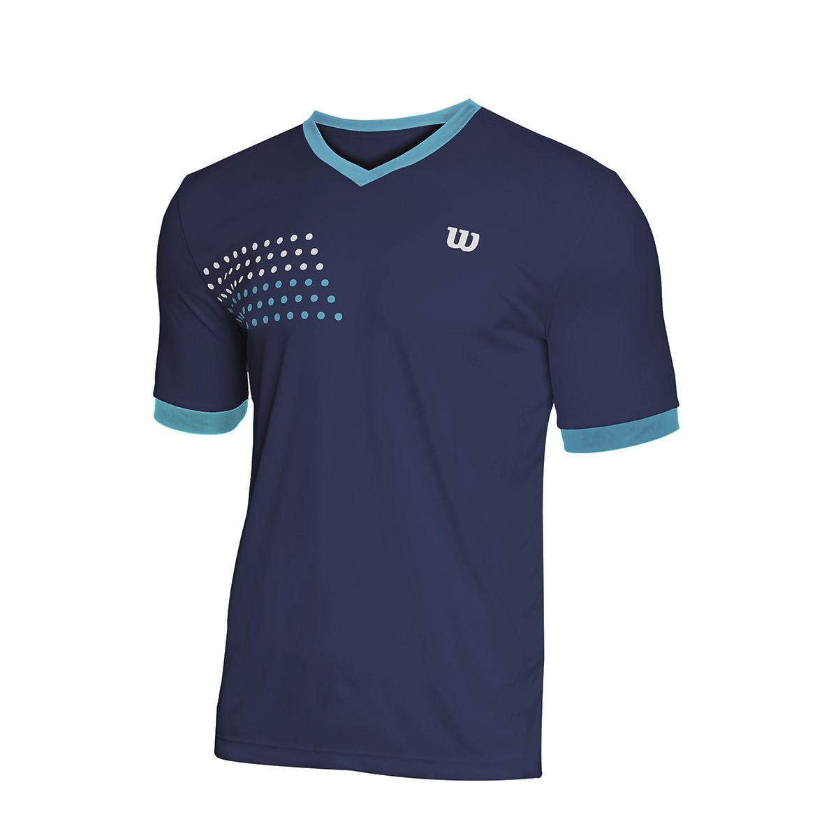Camiseta Wilson Slam Marinho