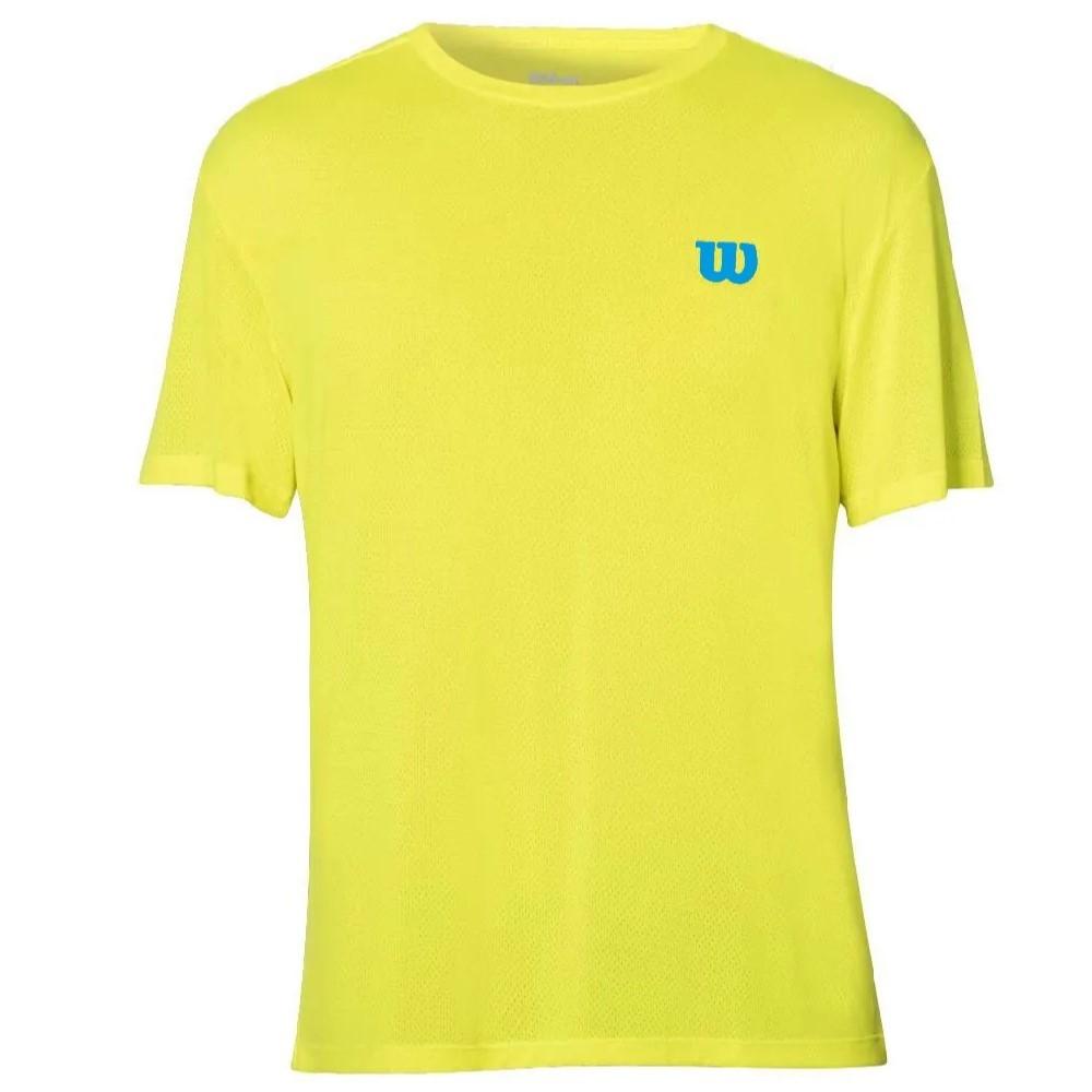 Camiseta Wilson Trainning 10 Amarelo e Azul - Feminino