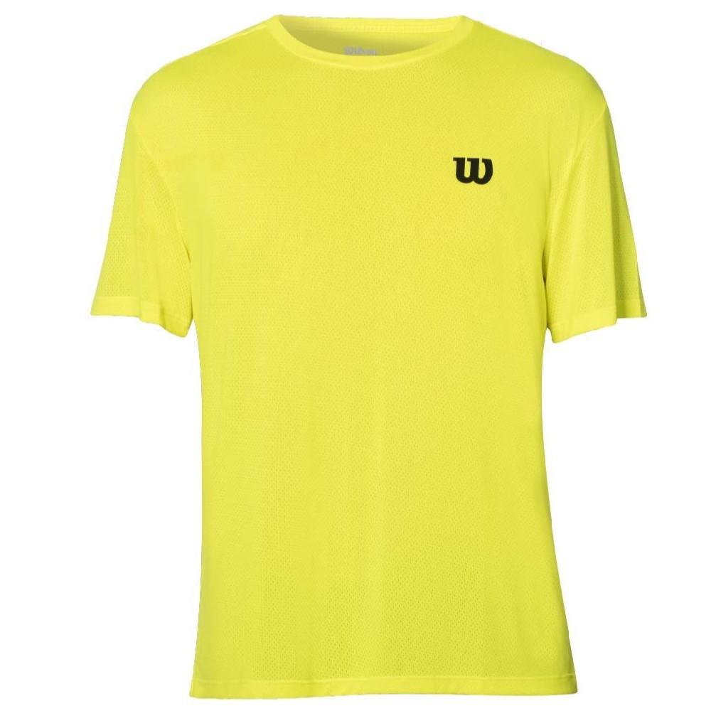 Camiseta Wilson Trainning 10 Amarelo e Preto - Masculino