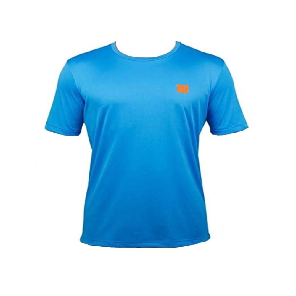 Camiseta Wilson Trainning 10 Azul e Laranja - Masculino