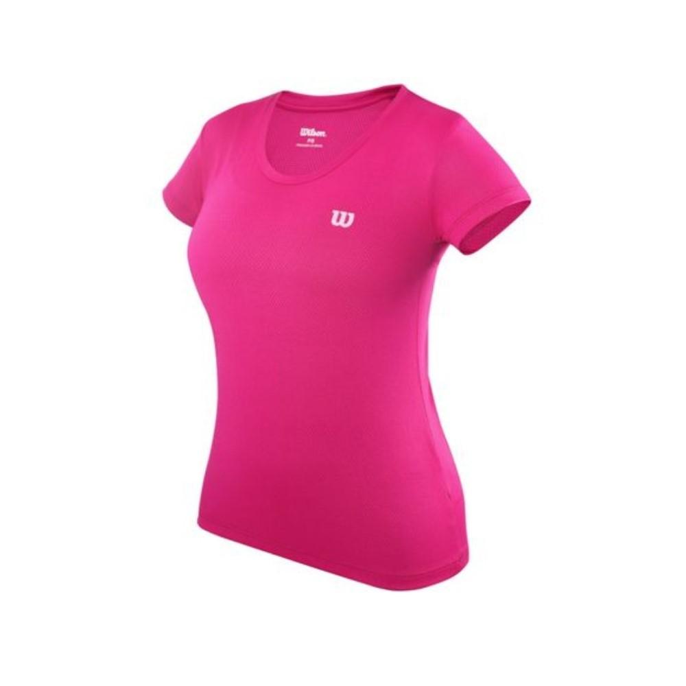Camiseta Wilson Trainning 10 Pink e Branco - Feminino
