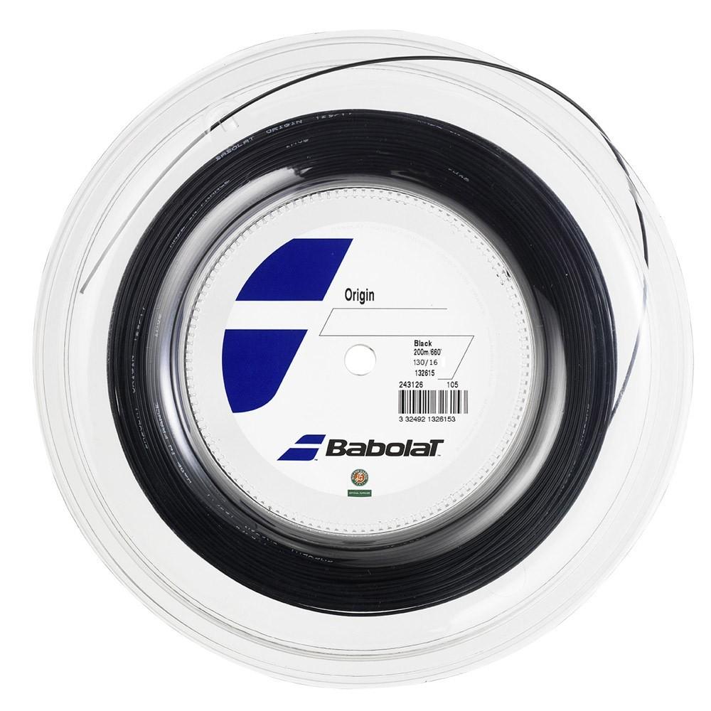 Corda Babolat Origin 16L 1.30mm Preta Rolo Com 200 Metros