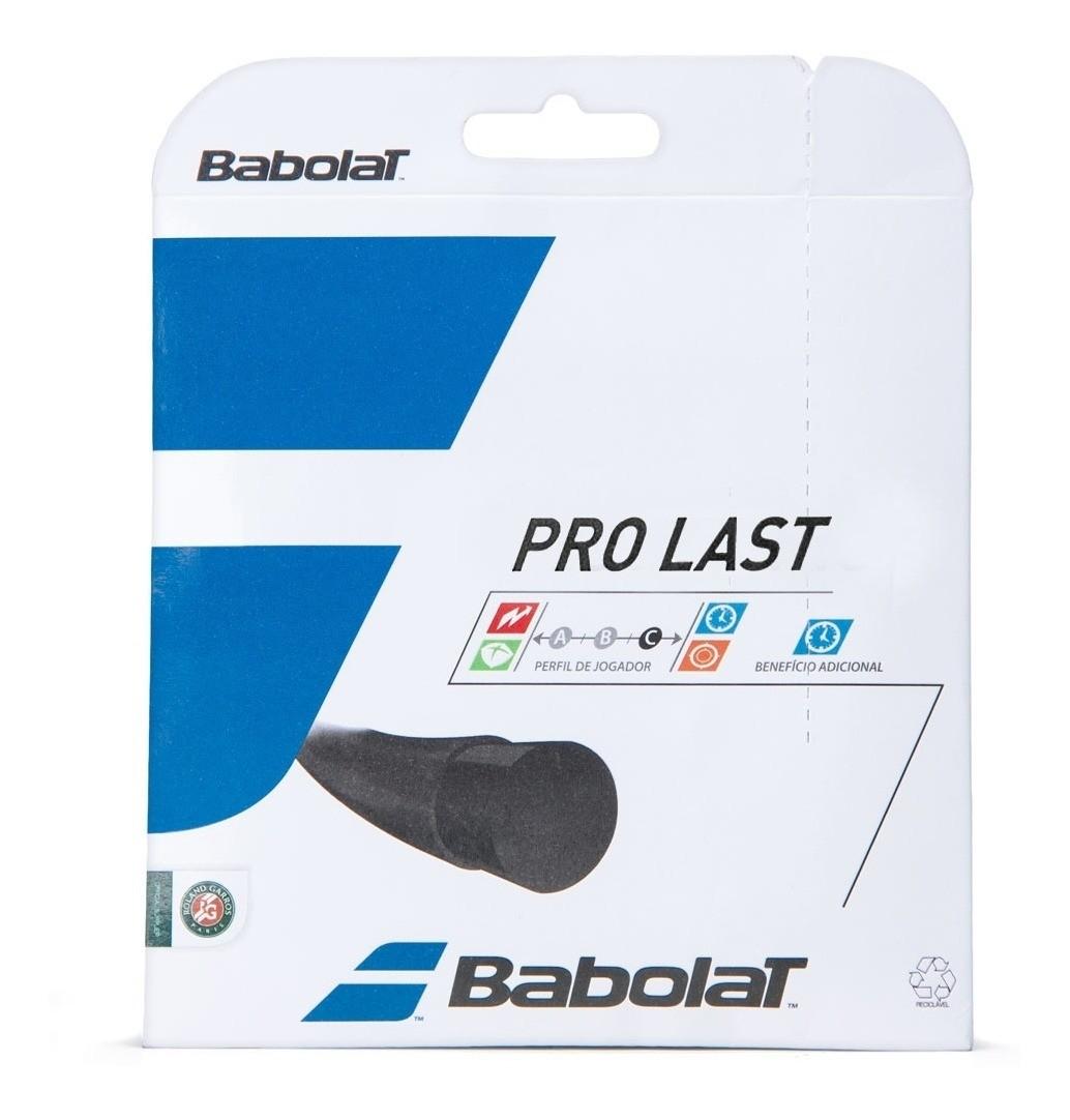 Corda Babolat Pro Last 17L 1.25mm Preto - Set Individual