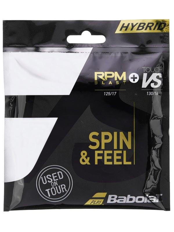 Corda Babolat RPM Blast 17 1.25mm e VS Touch 16L 1.30mm Preto