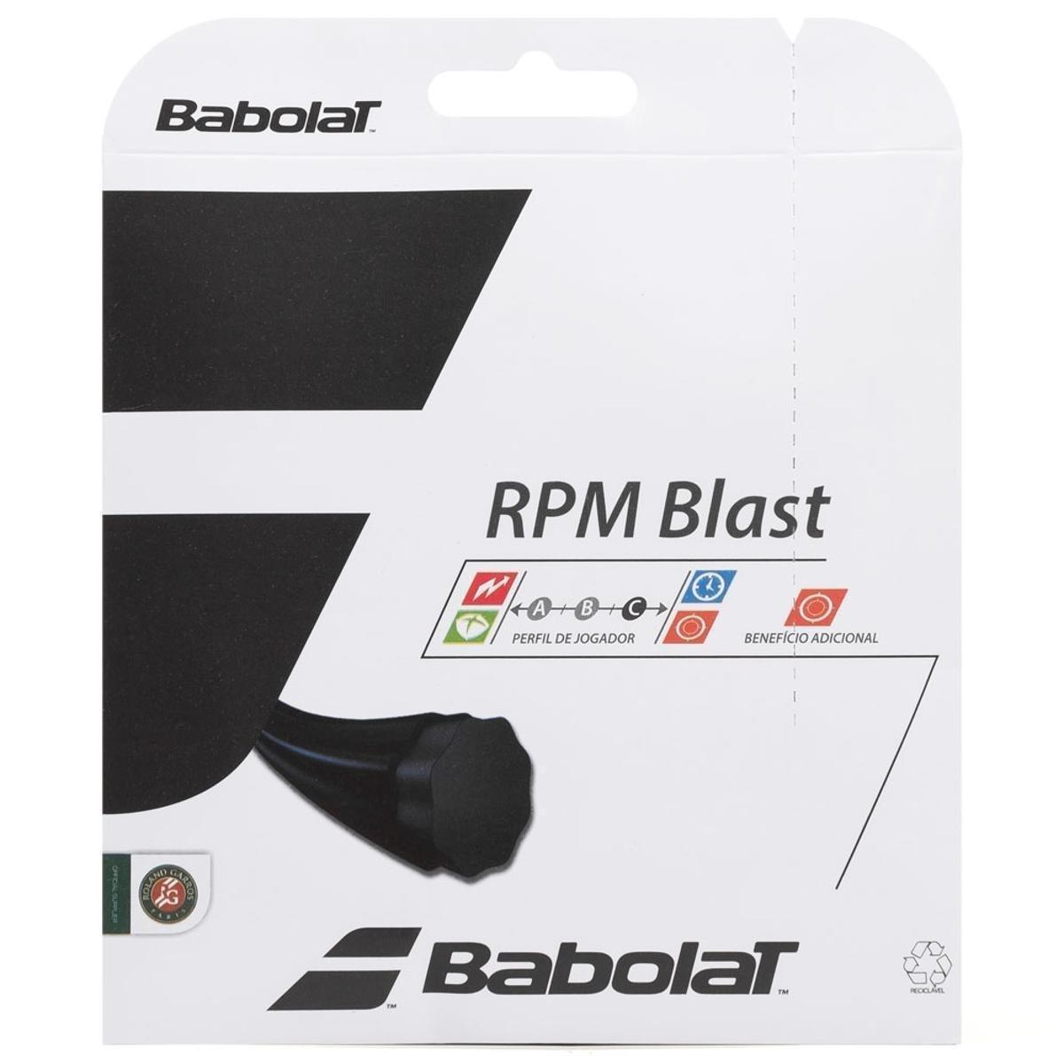 Corda Babolat RPM Blast 18L 1.20mm Preto - Set Individual